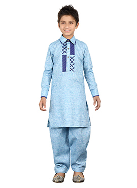 Blue Kids Kurta Pyjama