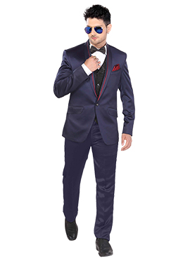 Blue Lapel Suit