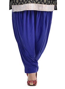 Blue Lycra Patiala Pant
