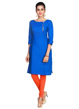 Blue Maybell Linen Kurti