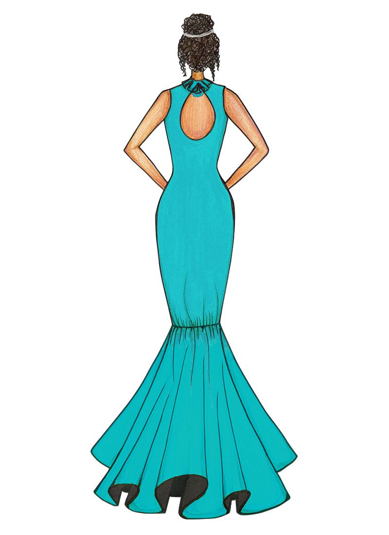 Buy Blue Mermaid Gown, Party, dresses and gown Online Shopping ...