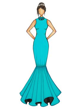 Blue Mermaid Gown