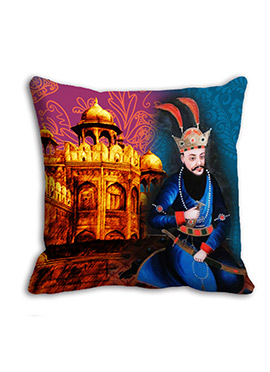 Blue Monument King Cushion Cover