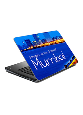 Blue Mumbai Laptop Skin