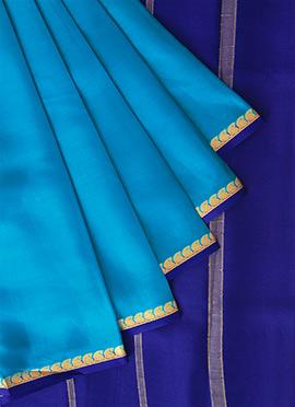 Blue Mysore Pure Silk Saree