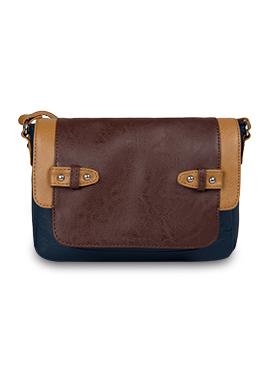 Blue N Brown Bagsy Malone Sling Bag
