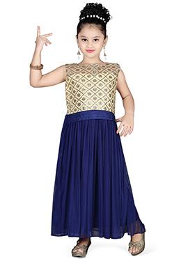 Blue N Cream Kids Gown