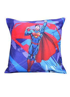 Blue N Red Warner Brother Super Man Cushion Cover