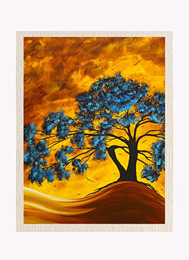 Blue N Yellow Nature Canvas