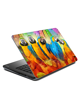 Blue N Yellow Parrot Laptop Skin