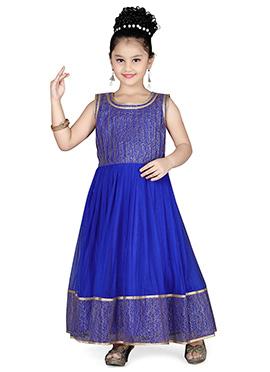 Blue Net Kids Gown