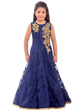 Blue Net Kids Gown