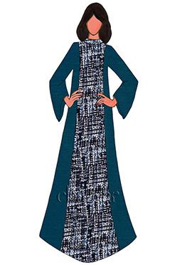 Blue Opal Cotton Fustan Suit