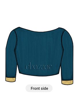 Blue Opal Cotton Trendy Blouse