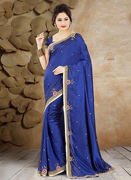 Blue Pure Handloom Silk Saree