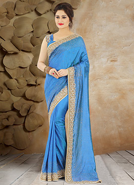 Blue Pure Handloom Silk Saree