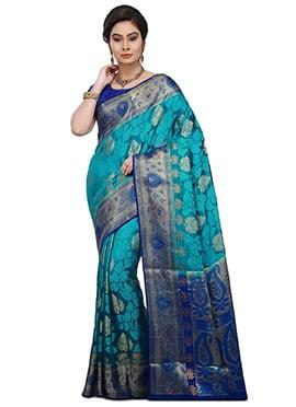 Blue Pure Silk Saree