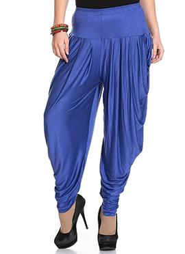 Blue Rayon Dhoti Pant