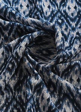 Blue Rayon Muslin Indigo