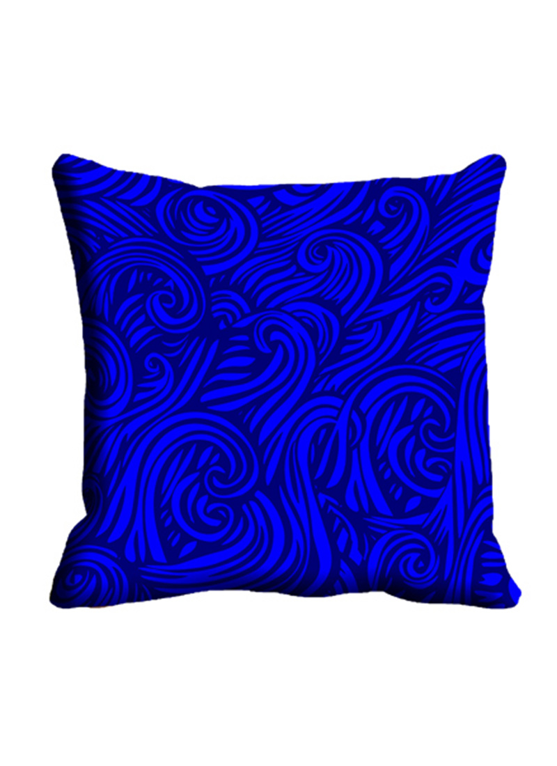 buy blue swirls cushion cover cushion covers online. Black Bedroom Furniture Sets. Home Design Ideas