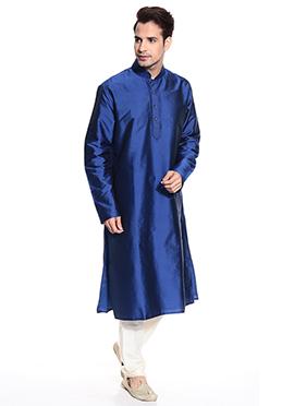 Blue Taffeta Kurta Pyjama