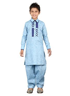Blue Teens Kurta Pyjama