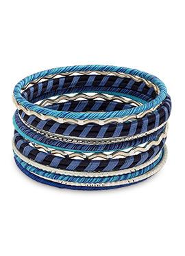 Blue Thread Bangles