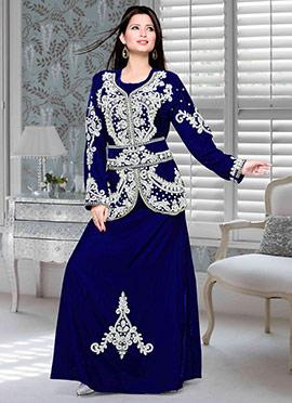 Blue Velvet Fustan