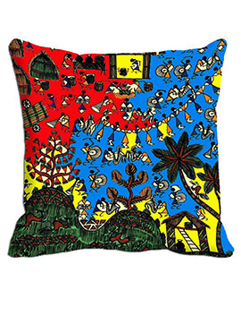 Blue Warly Cushion Cover