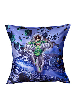 Blue Warner Brother Green Lantern Cushion Cover