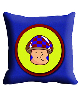 Blue Yellow Face Cushion Cover