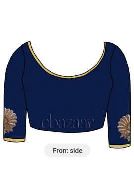 Blueprint Dupion Embroidered Blouse