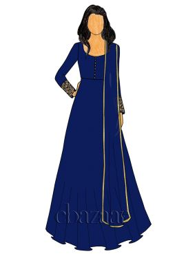 Blueprint Georgette Abaya Style Anarkali Suit