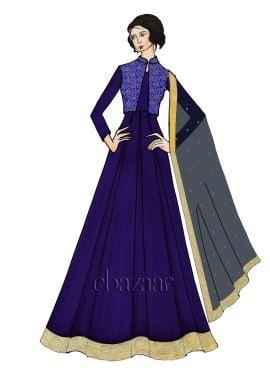 Blueprint Georgette Full Sleeve Abaya Set