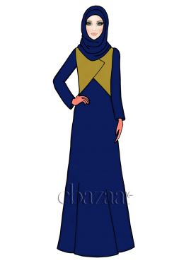 Blueprint N Saffron Georgette Abaya