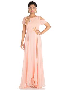 Blush pink Georgette Gown