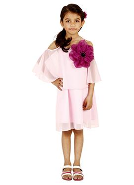 Light Pink Georgette Kids Dress