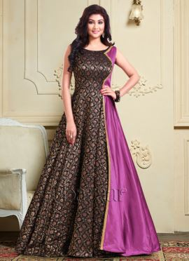 Bollywood Vogue Black N Pink Layered Dress