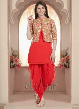 Bollywood Vogue Classic Dhoti Suit With Jacket