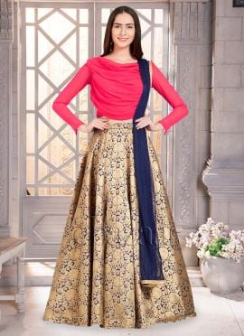 Bollywood Vogue Cowled Choli Umbrella Lehenga