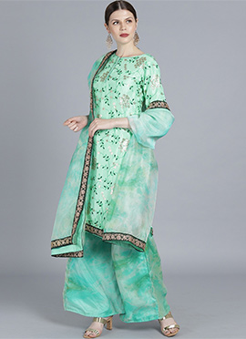 Bollywood Vogue Custom Made Wide Leg Pant Suit