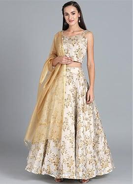 Bollywood Vogue Customised Foil Print Lehenga Set
