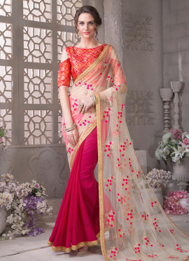 Bollywood Vogue Embellished Saree and Blouse