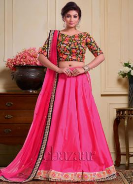 Bollywood Vogue Embellished Choli With Lehenga