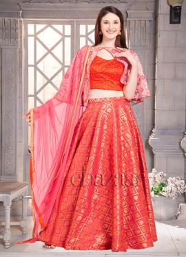 Bollywood Vogue Embroidered Cape Lehenga Set