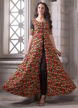 Bollywood Vogue Front Slit Floor Length Anarkali