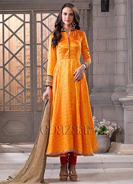 Bollywood Vogue Full Length Collared Anarkali