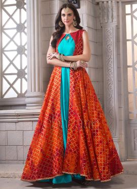 Bollywood Vogue Jacket Style Gown