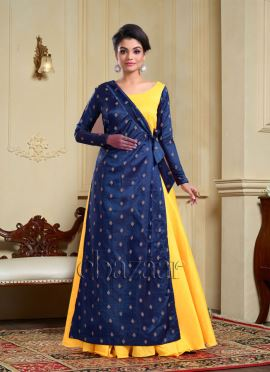 Bollywood Vogue Layered Angrakha Dress