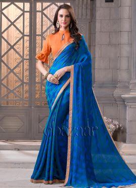 Bollywood Vogue Minimal Embellished Saree N Blouse